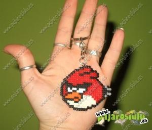 Llavero Angry birds rojo