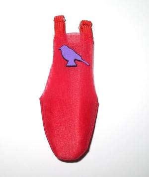 Porta pañal rojo decorado