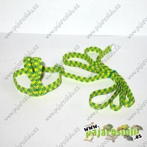 Arnés verde y amarillo