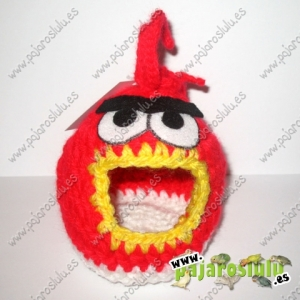Casa-nido angry birds rojo