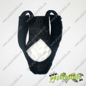 Porta pañal negro decorado