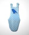 Porta pañal azul lunares decorado