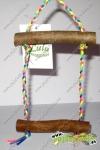 Balancín madera multicolor